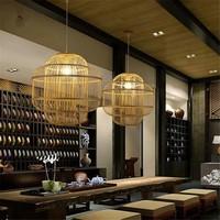Lámpara de Techo Colgante de Bambú Hecha a Mano - Evon