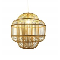 Ceiling Light Pendant Lighting Bamboo Lampshade Handmade - Evon