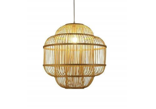 Fine Asianliving Ceiling Light Pendant Lighting Bamboo Lampshade Handmade - Evon
