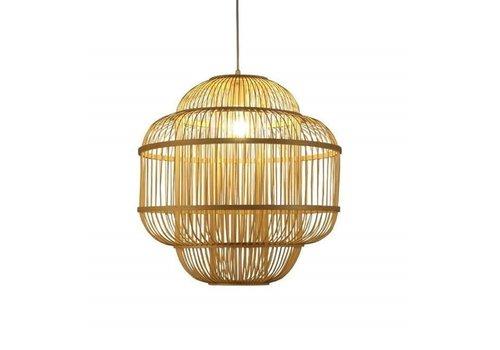 Fine Asianliving Lámpara de Techo Colgante de Bambú Hecha a Mano - Evon