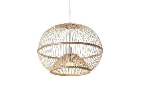 Fine Asianliving Lámpara de Techo Colgante de Bambú Hecha a Mano - Sisley