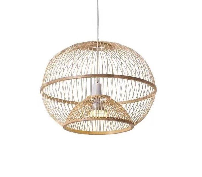 Fine Asianliving Deckenleuchte Pendelleuchte Beleuchtung Bambus Lampenschirm Handgefertigt - Sisley