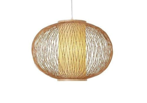 "Fine Asianliving Ceiling Light Pendant Lighting Bamboo Lampshade Handmade - ""Sophia"""
