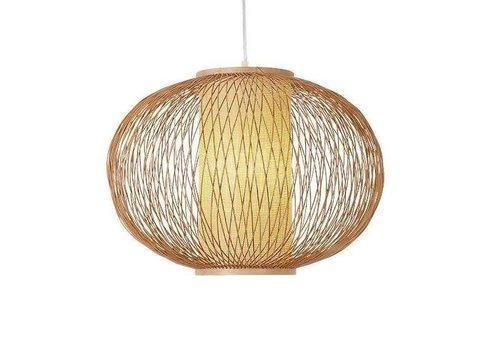 Fine Asianliving Lámpara de Techo Colgante de Bambú Hecha a Mano - Sophia