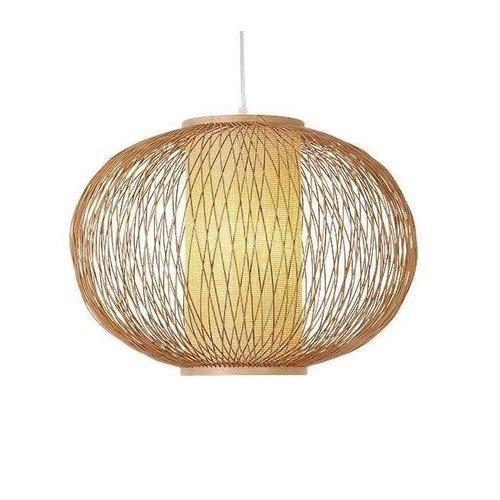 Plafonnier Luminaire Suspendu Bambou Abat-Jour Fait Main - Sophia