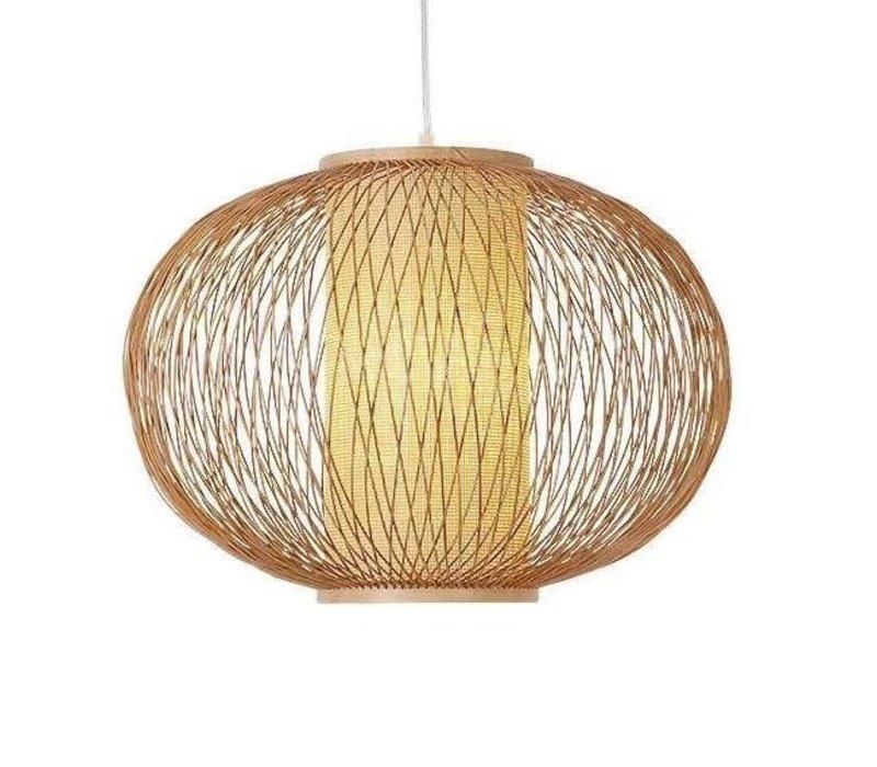 Fine Asianliving Deckenleuchte Pendelleuchte Beleuchtung Bambus Lampenschirm Handgefertigt - Sophia