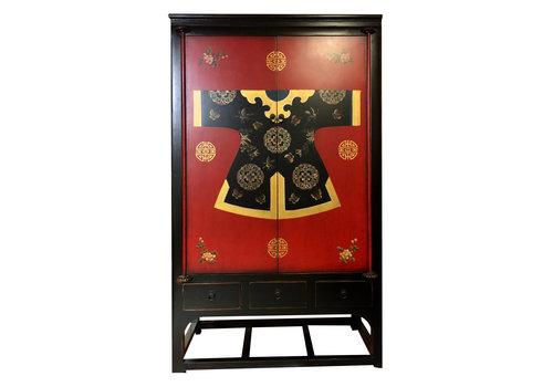 Fine Asianliving Fine Asianliving Chinese Bruidskast Handbeschilderde Kimono Qipao 100x55x190cm