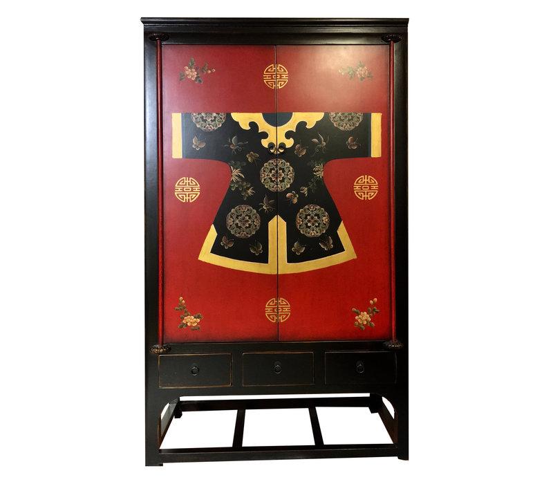 Chinese Wedding Cabinet Handpainted Kimono Qipao W100xD55xH190cm