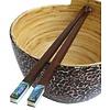 Fine Asianliving Abalone Schelp en Rosewood Pair Chopsticks