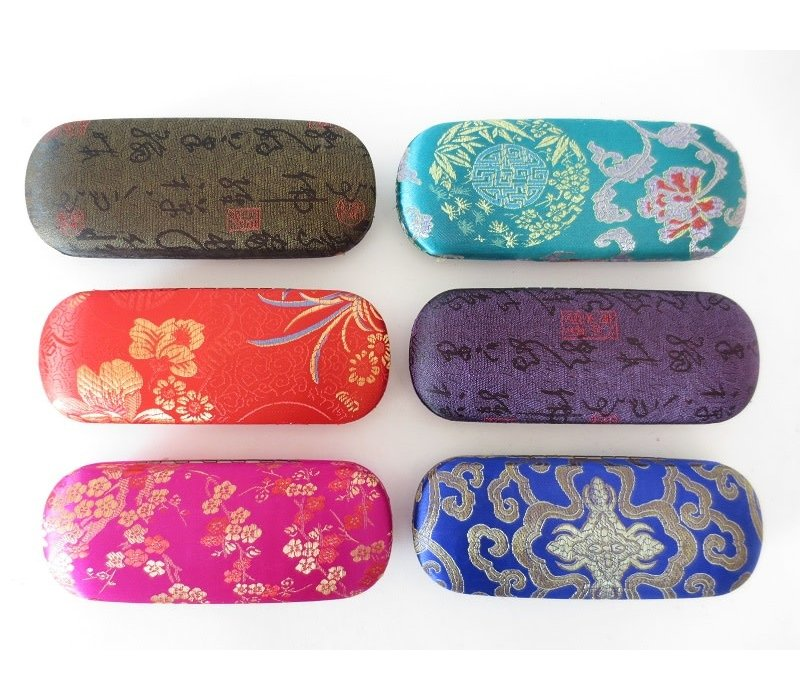 Fine Asianliving Chinese Glasses Case (Random Colour)