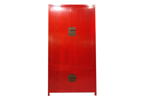 Fine Asianliving Chinese Cabinet Red