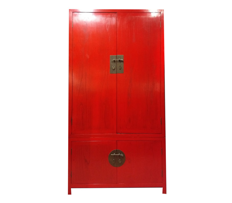 Conçu Armoire Chinoise Rouge - Anhui