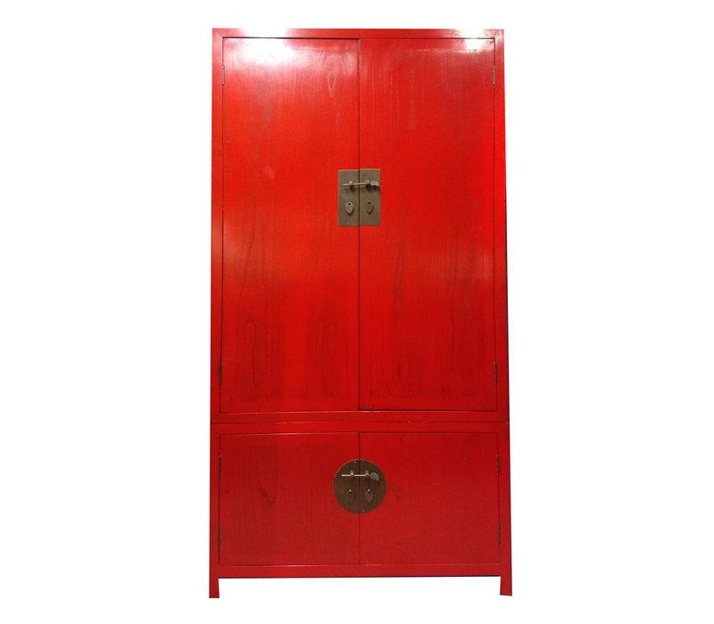 Grote Chinese Kledingkast Rood 2-Delig