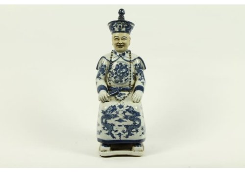 Fine Asianliving Chinese Emperor Porcelain Figurine Three Generations Qing Dynasty Statues - Luck A