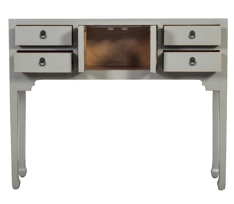Fine Asianliving Chinese Console Table Hallway Table Sidetable L100xW26xH80cm Grey