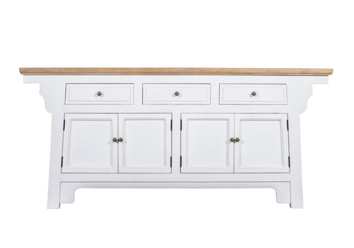 Fine Asianliving Fine Asianliving  Chinese Sideboard with Wing White