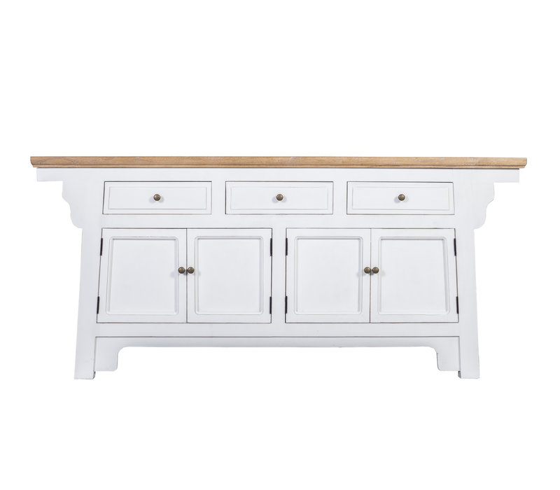 Fine Asianliving  Chinese Sideboard with Wing White