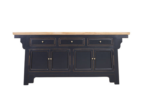Fine Asianliving Fine Asianlivinng Chinese Sideboard With Wing Black