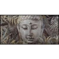Fine Asianliving Boeddha Schilderij Bladeren 62x122cm