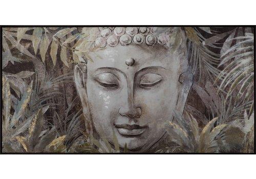 Fine Asianliving Fine Asianliving Boeddha Schilderij Bladeren 62x122cm