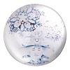 Fine Asianliving Presse Papier Chinese Keizer Blauw Wit Diameter 8 cm