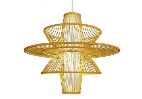 Fine Asianliving Deckenleuchte Pendelleuchte Beleuchtung Bambus Lampenschirm Handgefertigt - Nicole