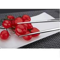 Fine Asianliving Korean Chopsticks Stainless Steel Spiral Pair