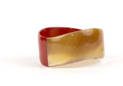 Fine Asianliving Bracelet Buffalo Horn Red Handmade Vietnam