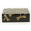Fine Asianliving Luxury Soapstone Storage Box Dragonfly Black Handmade Vietnam