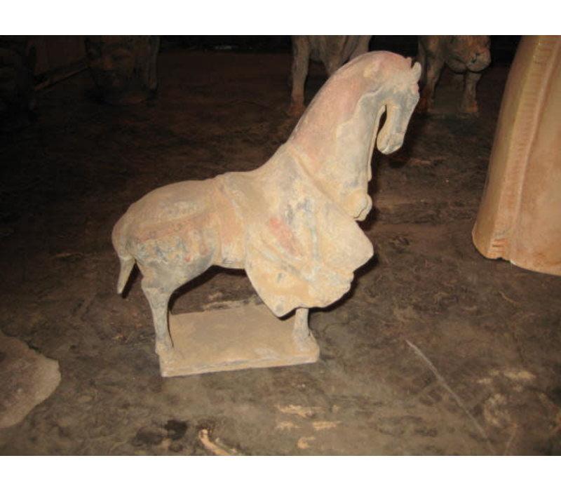 Fine Asianliving Chinese Terracotta Paard Tang-Style Aardewerk