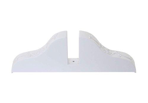 Fine Asianliving Raumteiler Trennwand Halter Ständ Weiß - 1 Stück
