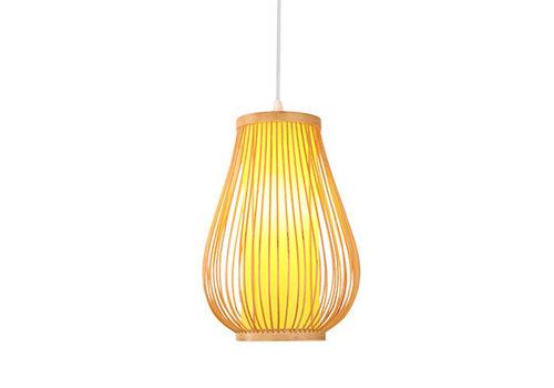 Fine Asianliving Deckenleuchte Pendelleuchte Beleuchtung Bambus Lampenschirm Handgefertigt - Bella