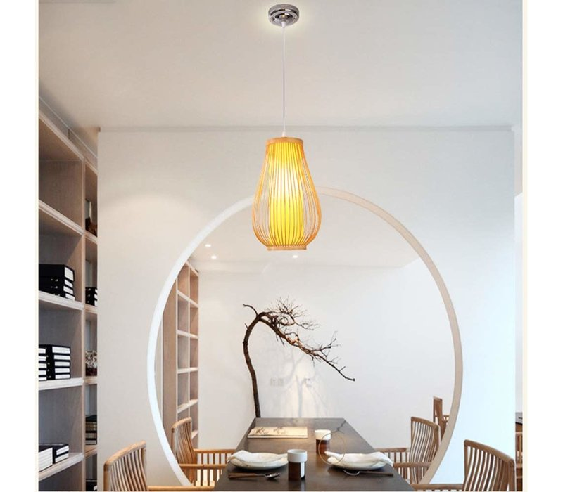 Fine Asianliving Ceiling Light Pendant Lighting Bamboo Lampshade Handmade - Bella