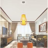 Fine Asianliving Ceiling Light Pendant Lighting Bamboo Lampshade Handmade - Bella