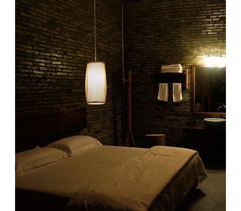 Ceiling Light Pendant Lighting Bamboo Lampshade Handmade - Elise