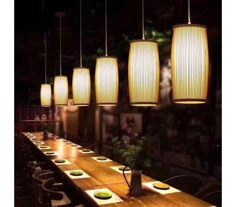 Fine Asianliving Plafoniera Lampada A Sospensione Bambù Paralume Fatto A Mano - Elise