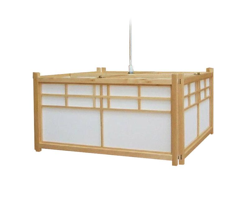 Fine Asianliving Japanese Hanging Lamp Shoji Wood Ishikawa Natural