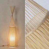 Bamboe Vloerlamp Handgemaakt - Nora