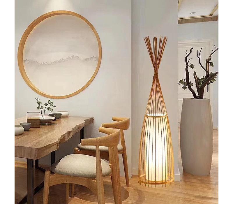 Bambus Stehlampe Handgefertigt - Nora