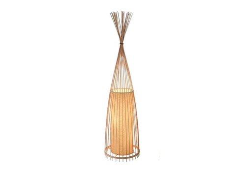Fine Asianliving Lámpara de Pie de Bambú - Nora