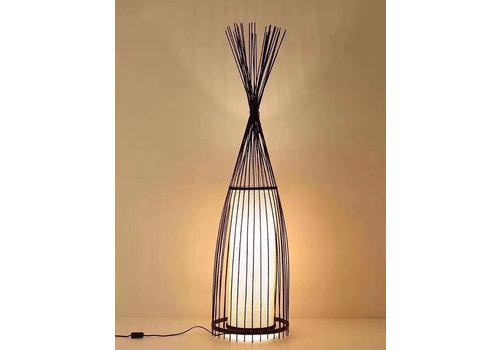 """Fine Asianliving Fine Asianliving Bamboe Gevlochten Vloerlamp - """"James"""""""