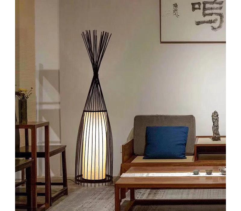 "Fine Asianliving Bamboe Gevlochten Vloerlamp - ""James"""