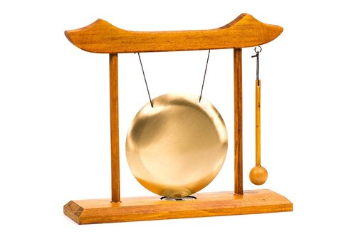 Fine Asianliving Fine Asianliving Chinese Table Gong with Lucky Coin 25x22cm