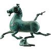 Fine Asianliving Chinese Han Horse Flying Ferghana Horse Bronze