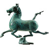 Fine Asianliving Chinese Han Paard Flying Ferghana Horse Brons