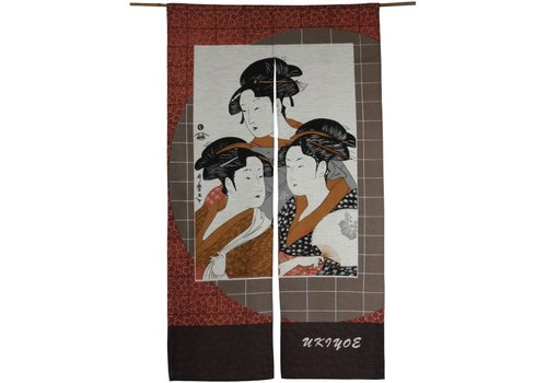 Fine Asianliving Fine Asianliving Japanse Noren Deurgordijn - Geisha's Handmade Japan  85x150cm