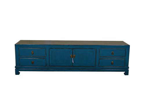 Fine Asianliving Contemporary Chinese Sideboard Low Dark Teal
