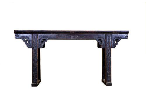 Fine Asianliving Antieke Chinese Altaar Tafel Handgesneden Donkerbruin