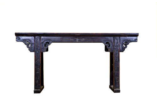 Fine Asianliving Antique Chinese Altar Table - Dark Brown