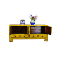 [PREORDER WEEK48] Yellow Antique Chinese Low Sideboard Hand Painted